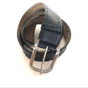 Rare Prada Black Textured Leather Buckle Belt